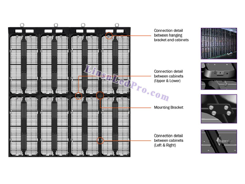 P8.9mm SMD Outdoor LED Curtain Display Wall